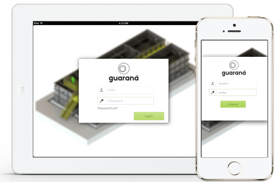 UX/UI of mobile app developed by Guarana Technologies