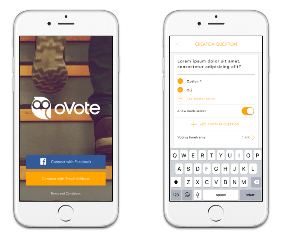 oVote mobile app Guarana